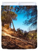 Pine Trees In El Chorro. Spain Duvet Cover by Jenny Rainbow