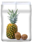 Pineapple And Kiwis Duvet Cover by Carlos Caetano