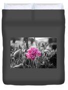 Pink Carnation Duvet Cover by Sumit Mehndiratta