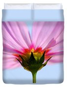 Pink Cosmos Duvet Cover by Rich Franco