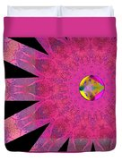 Pink Ribbon Of Hope Duvet Cover by Alec Drake