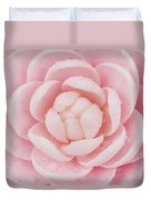 Pink Up Close And Personal Duvet Cover by Rich Franco