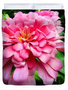 Pink Zinnia Duvet Cover by Sandi OReilly