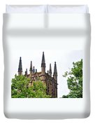 Pinnacles Of St. Mary's Cathedral - Sydney Duvet Cover by Kaye Menner