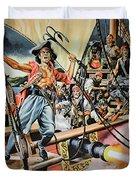 Pirates Preparing To Board A Victim Vessel  Duvet Cover by American School