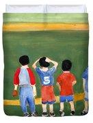 Play Ball Duvet Cover by Sandy McIntire
