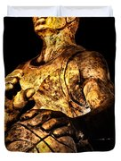 Player In Bronze Duvet Cover by Christopher Holmes