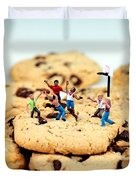 Playing basketball on cookies Duvet Cover by Paul Ge