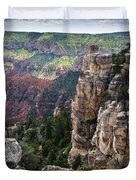Point Imperial Cliffs Grand Canyon Duvet Cover by Gary Eason