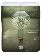 Polka Dotted Umbrella Duvet Cover by Joana Kruse