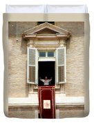 Pope Benedict Xvi A Duvet Cover by Andrew Fare