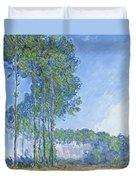 Poplars Duvet Cover by Claude Monet