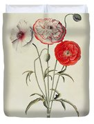 Poppies Corn Duvet Cover by Georg Dionysius Ehret