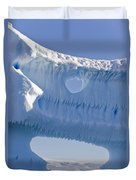 Portion Of A Gigantic Iceberg Duvet Cover by Ron Watts