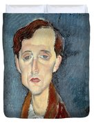 Portrait Of Franz Hellens Duvet Cover by Modigliani