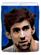 Portrait Of Phelps Duvet Cover by George Pedro