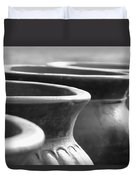 Pots In Black And White Duvet Cover by Kathy Clark