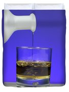 Pouring Oil Into Vinegar Duvet Cover by Photo Researchers, Inc.