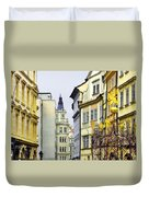 Prague - Walking In The Footsteps Of Kings Duvet Cover by Christine Till