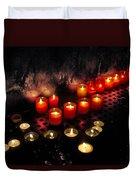 Prague Church Candles Duvet Cover by Stelios Kleanthous