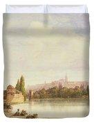 Prague Czechoslovakia Duvet Cover by William Wyld