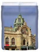 Prague Obecni Dum - Municipal House Duvet Cover by Christine Till