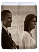 President Obama and First Lady S Duvet Cover by David Dehner