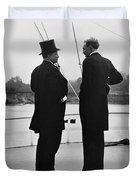 President Roosevelt And Gifford Pinchot Duvet Cover by Photo Researchers