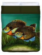 Pretty Little Panfish Duvet Cover by Kathleen Kelly Thompson