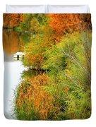 Prosser Autumn Docks Duvet Cover by Carol Groenen
