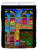 Psychadelic Architecture Duvet Cover by Andrew Fare