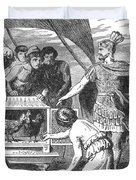 Publius Claudius Pulcher And The Sacred Duvet Cover by Photo Researchers