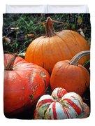 Pumpkin Patch Duvet Cover by Kathy Yates