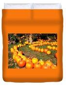 Pumpkin Patch Path Duvet Cover by Carol Groenen