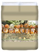 Pumpkins P U M P K I N S Duvet Cover by James BO  Insogna