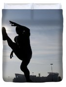 Punting The Sun - Philadelphia Duvet Cover by Bill Cannon