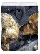 Puppy Love Duvet Cover by Madeline Ellis