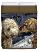 Puppy Love Duvet Cover by Madeline Ellis