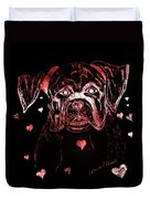 Puppy Love Duvet Cover by Maria Urso