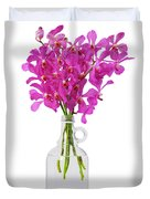 Purple Orchid In Bottle Duvet Cover by Atiketta Sangasaeng