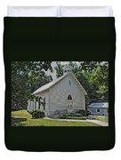 Quaker Church Pencil Duvet Cover by Scott Hervieux
