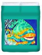Queen Parrotfish Duvet Cover by Daniel Jean-Baptiste