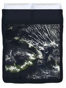 Rabaul Volcano On The Island Of Papua Duvet Cover by Stocktrek Images