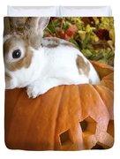 Rabbit Joins the Harvest Duvet Cover by Alanna DPhoto