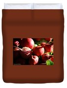 Radishes At Sunrise Duvet Cover by Susan Herber