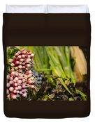 Radishes At The Market Duvet Cover by Heather Applegate