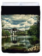 Rail Swing Bridge Duvet Cover by Joel Witmeyer
