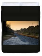 Railway Into Town Duvet Cover by Carolyn Marshall