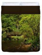 Rain Forest Bridge Duvet Cover by Adam Jewell