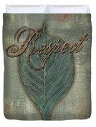 Rainbow Leaves 1 Duvet Cover by Debbie DeWitt
